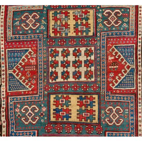 Dated 1860, Caucasian Wedding Rug, The Best of a Small Group of Sewan Kazak Rugs