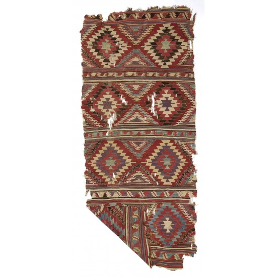 Antique Anatolian Karapinar Kilim, 18th Century