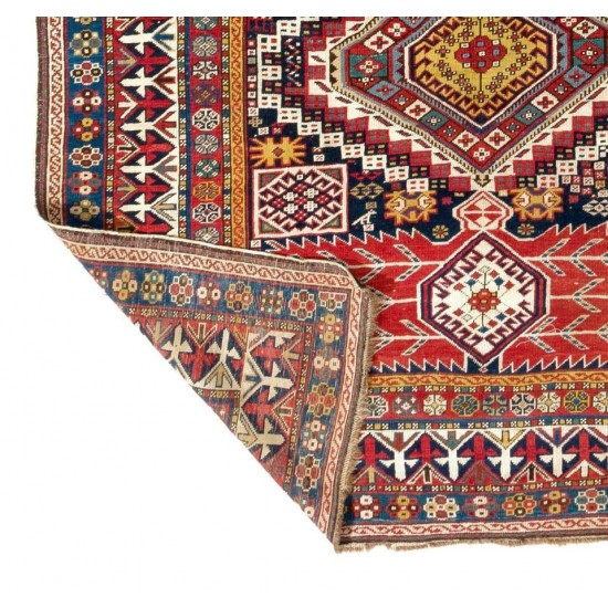 Large Sought-After Antique Shirvan Rug circa 1875