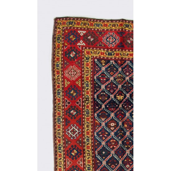 Antique Caucasian Kazak Runner Rug