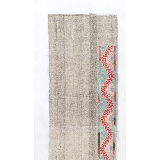 'Adjustable' Extra Long & Narrow Vintage Handmade Cotton Runner Kilim