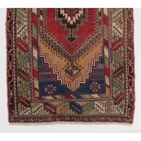 Authentic Handmade Vintage Turkish Tribal Rug