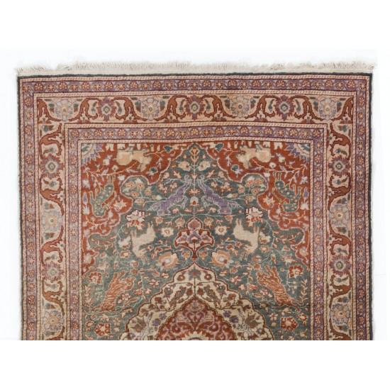 Art Silk Antique Anatolian Hunting Rug