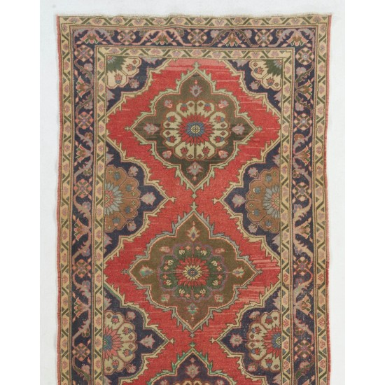 Authentic Anatolian Runner. One of a kind Wool Hallway Carpet