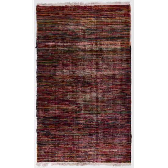 Abstract Midcentury Modern Turkish Rug