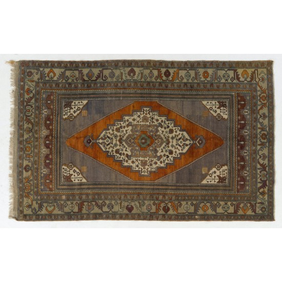 One-of-a-Kind Vintage Anatolian Taspinar Rug, 100% Wool. Soft Colors