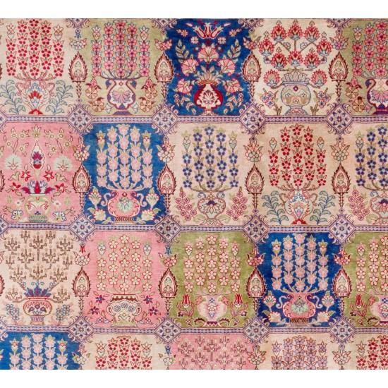 Fine Pure Silk Turkish Hereke Rug