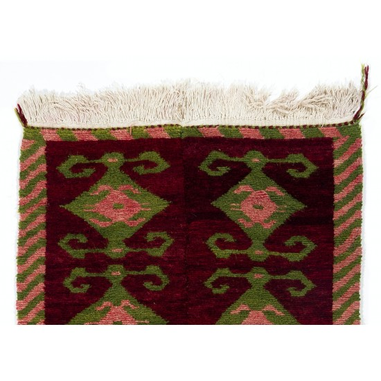 Vintage One-of-a-Kind Tulu Rug with Ram's Horn Design