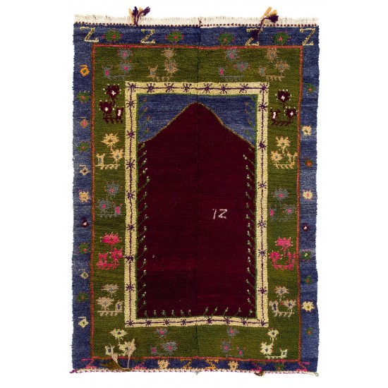 One-of-a-Kind Vintage Anatolian Tulu Rug with Archway