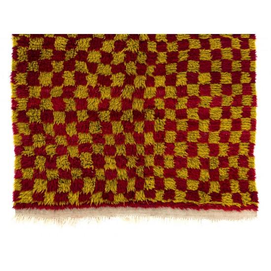 Chequered Mid-Century Tulu Rug