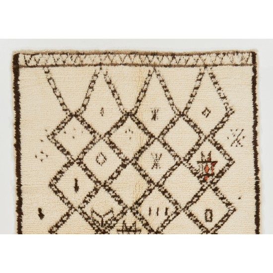 Boho Chic Moroccan Rug, 100% Natural Undyed Wool, Custom Options Available