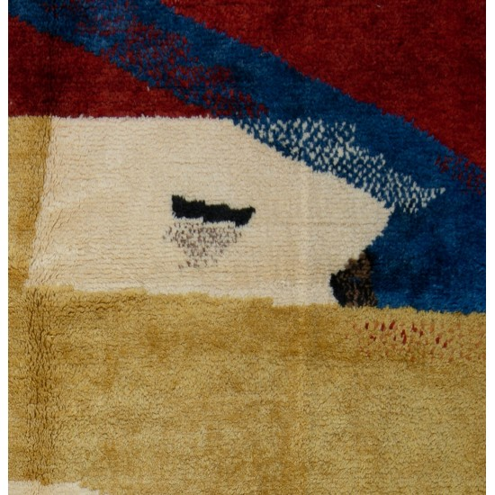 Abstract Design, Colorful Tulu Rug. 100% Wool. Custom Options Available