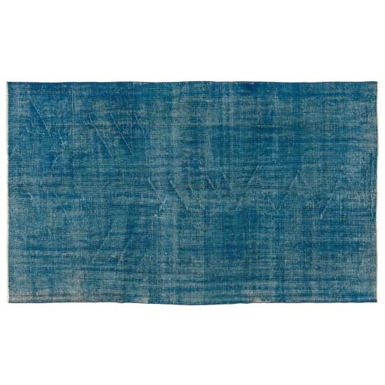 Abstract Design, Overdyed Handmade Vintage Turkish Rug