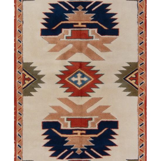 Vintage Handmade Central Anatolian Area Rug